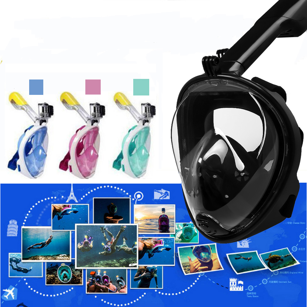 Diving Mask Scuba Mask Anti Fog Full Face Snorkeling Mask Set Diving Underwater Women Men Swimming Snorkel Diving Equipment full face snorkeling mask scuba diving mask anti fog underwater snorkel set anti skid ring swimming accessories aqualung