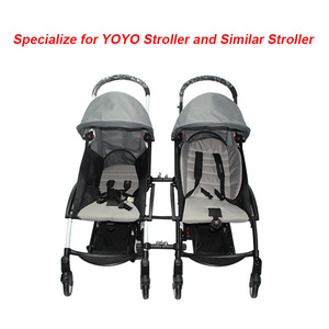 Image 3 - 3pcs Coupler Bush Insert Strollers Connector Adapter For Babyzen Yoyo Baby Yoya Stroller Into Twins Pram Carriage