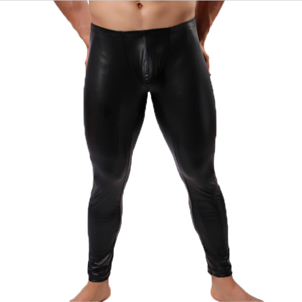Sexy man leather pants