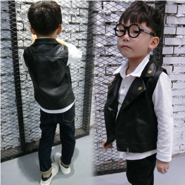 13c607dd0 Spring kids leather clothing motorcycle jackets, childern PU leather vest,  toddler leather coat, boys chaps, girls leather chaps