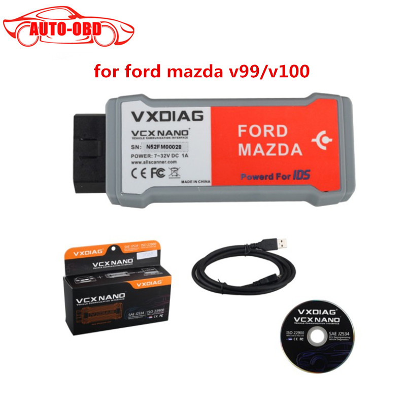Fast and Free Shipping 100 High Quality VXDIAG VCX NANO for Ford Mazda 2 in 1