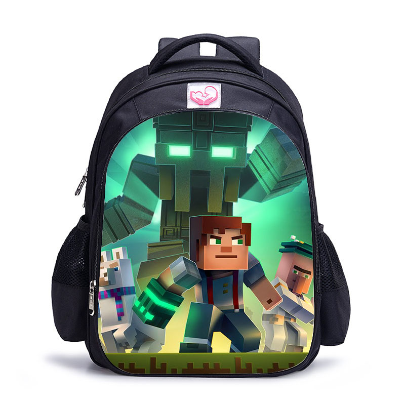 16 Inch MineCraft Colorful Backpack Boy Cartoon School Bags Orthopedic Backpack School Bags For Boys And Girl Mochila Sac A Dos