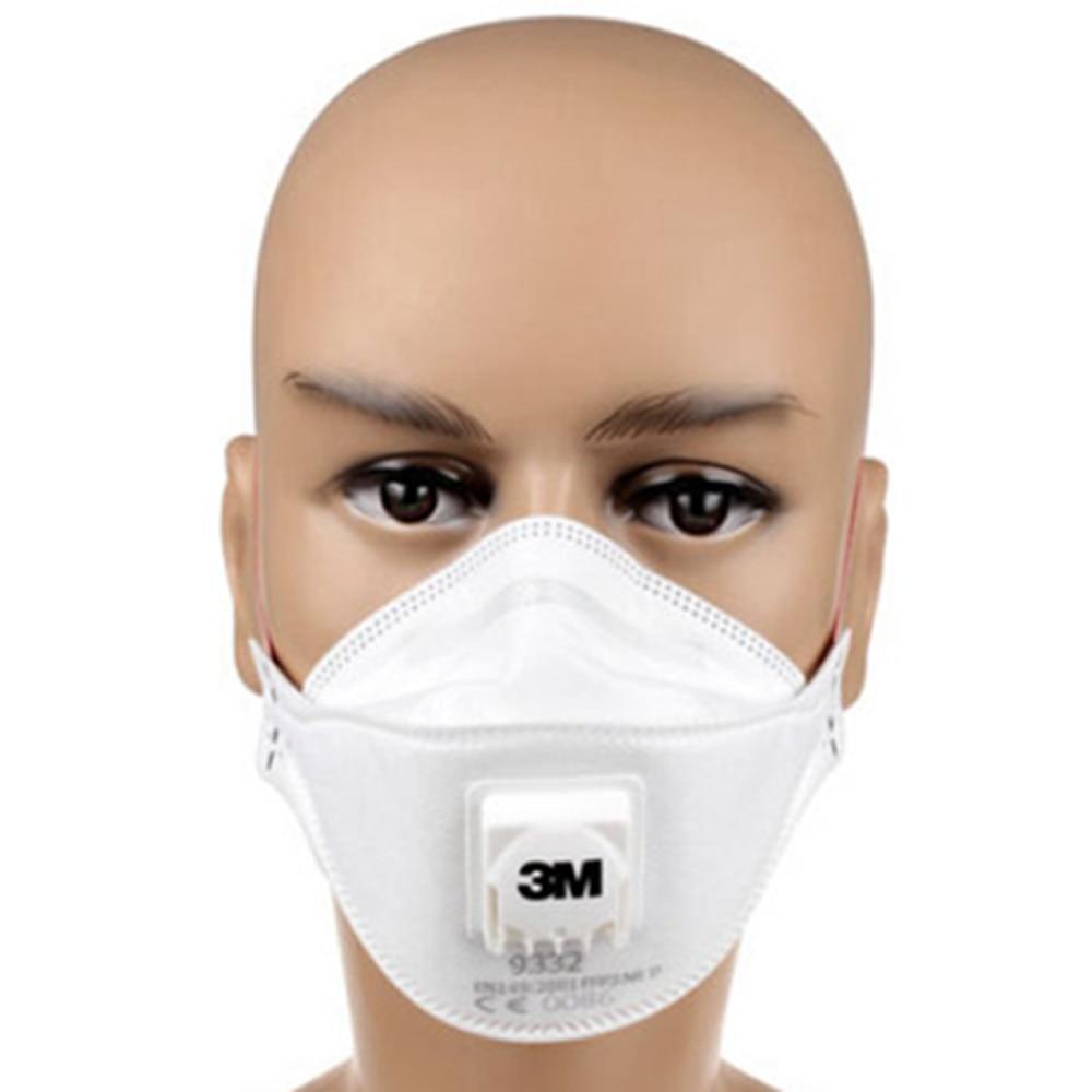 3M 9332 Anti-dust Protective Mask Anti-fog Haze Dust-proof FFP3 Level Anti-PM2.5 Headband Formula Exhalation Valve Mask