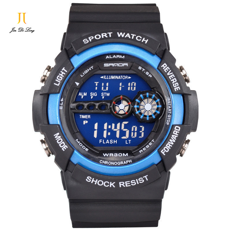 Brand Fashion Military Sport Watch Multi-function Kids LED Digital Watch Luminous Alarm Clock Children Wrist Watch Waterproof