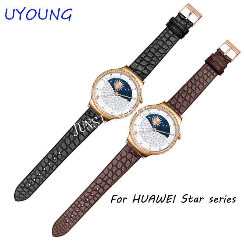 excellent quality new design sport fitness silicone watch band strap with steel buckle for huawei smart watch Quality Crocodile Watchband For HUAWEI Star Series Smart Watch band Fine Steel Pin Buckle
