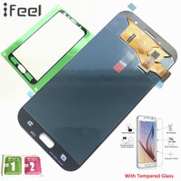 IFEEL 100 Tested Working Super For Samsung Galaxy A7 2017 A720 A720F A720F DS AMOLED LCD