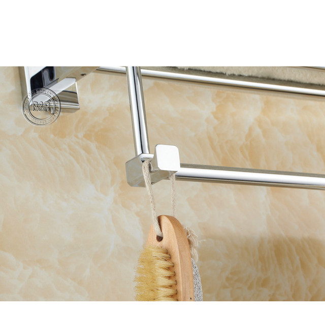 Free Shipping Bakala Fashionable Towel Rack Bathroom Accessories Bar Chrome Br 87001