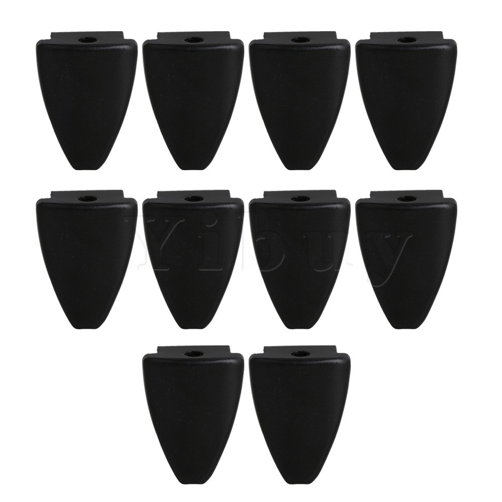 Yibuy Black Iron Triangle Shape Drum Claw Hook without Tension Rods 7mm Hole Diameter Drum Parts Pack of 10