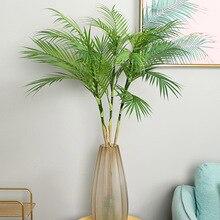 Искусственные листья пальмы, ветви, яркие дикие искусственные листва, искусственные растения для дома, свадьбы, гостиной, самодельные Украшения, вечерние джунгли
