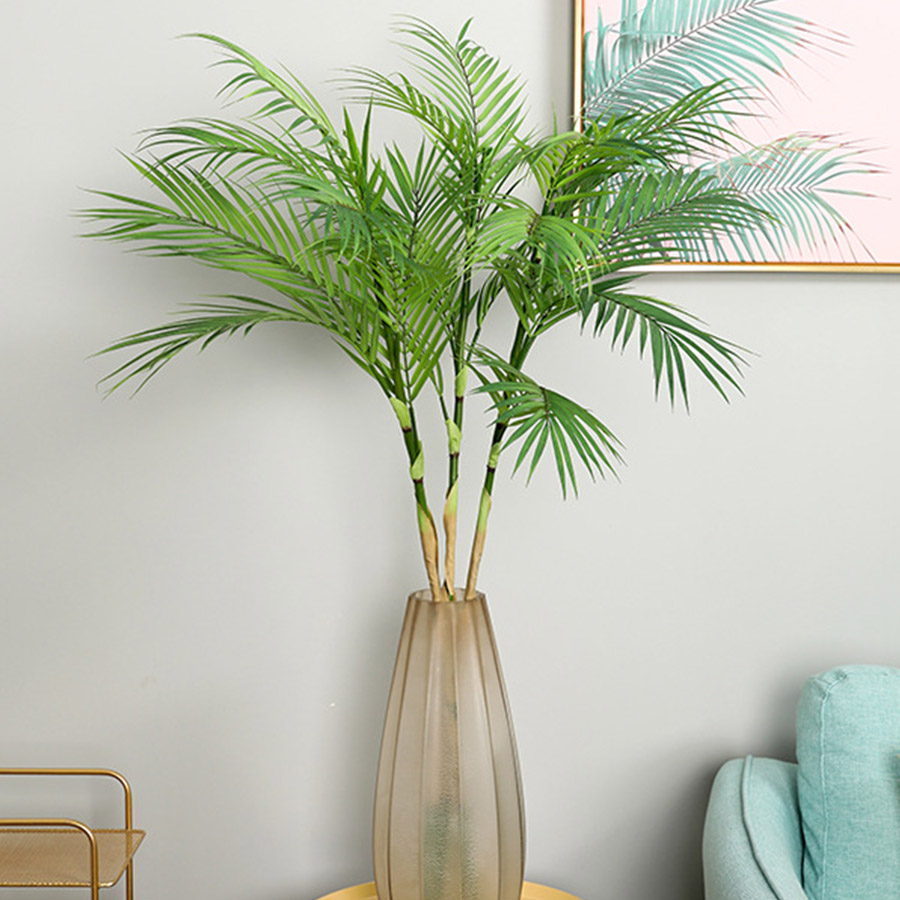 Palm Tree Artificial Leaves Branches Vivid Wild Faux Foliage Fake Plant for Home Wedding Living Room DIY Decoration Jungle Party(China)