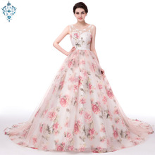 Ameision Long Evening Dresses With Lace Appliques Printed Floral Formal Prom Dress For Women Real Photo Robe De Soiree