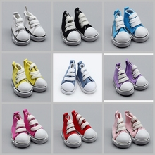 цена 5cm Cowboy Blue Pink Mini Doll Sneakers Shoes for 1/6 BJD Canvas Shoes For BJD Doll Accessories Girl Birthday Gift онлайн в 2017 году