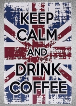 1 pc Keep calm and drink coffee UK Flag Cappuccino Americano  Tin Plate Sign plaques Man cave vintage Shop store metal poster 1 pc attitude bags store leather shop tin plate sign plaques man cave vintage shop store metal poster