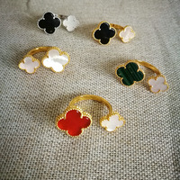 Clover Fashion Open Ring For Women