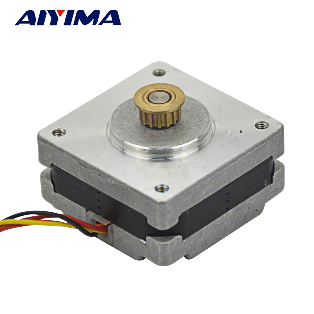 Aiyima 2 phase 4 wires 42 stepper motor 1.8 degrees with Brass MXL ...