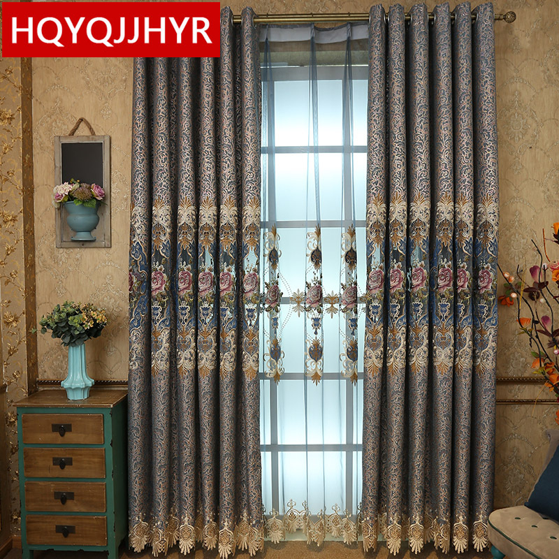 European-style royal noble embroidered curtains for the living room classic villa luxury curtains for the bedroom upscale hotel