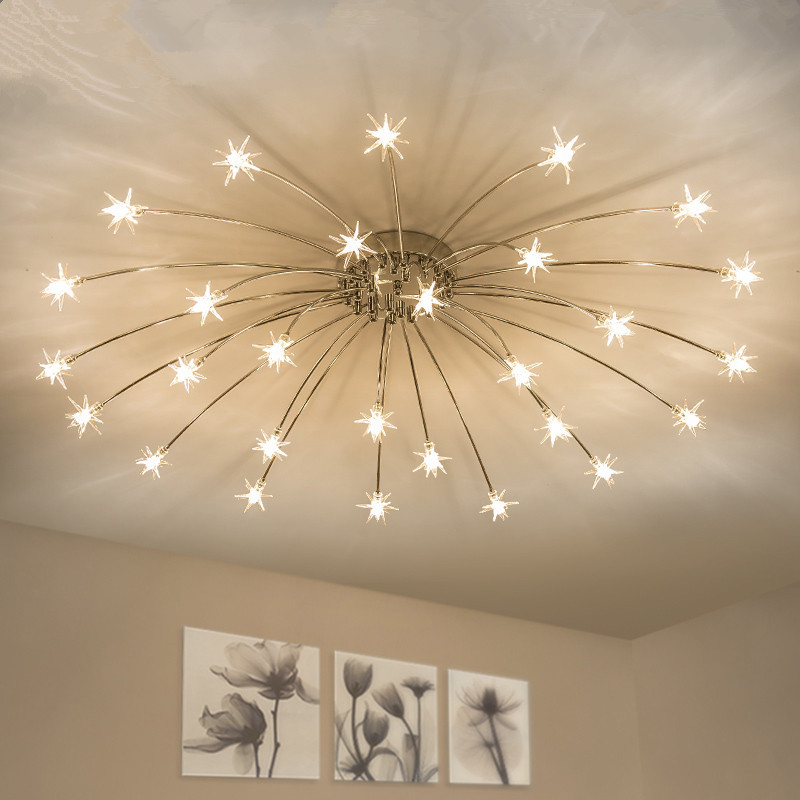 Us 95 04 28 Off Modern Led Chandelier Ceiling Star Novelty Children S Room Illumination Nordic Fixtures Home Lighting Bedroom Living Lamps In