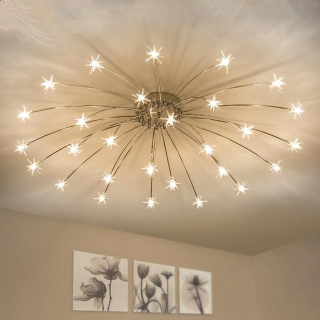 Modern Led Chandelier Ceiling Star Novelty Children S Room Illumination Nordic Fixtures Home Lighting Bedroom Living Lamps