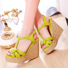 Open toe high-heeled shoes small yards 31-33 vintage platform shoes wedges sandals plus size women's shoes 40 – 43