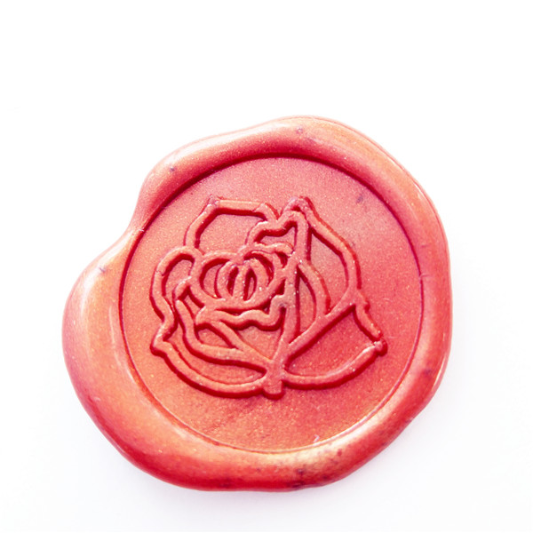 Elegant rose wax seal stamp flower wax sealing wedding seals invitation wax seals gift wrapping seal elegant flower lace lacut cut wedding invitations set blank ppaer printing invitation cards kit casamento convite pocket