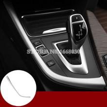 Внутренняя консоли Шестерни коробка переключения рамка крышки Накладка для BMW 3 4 серии F30 F31 F32 F34 2013-2018