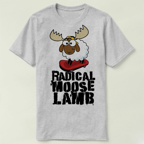 Saturday Night Live Radical Moose Lamb Tee short sleeve women men cotton DIY T-Shirt fashion summer