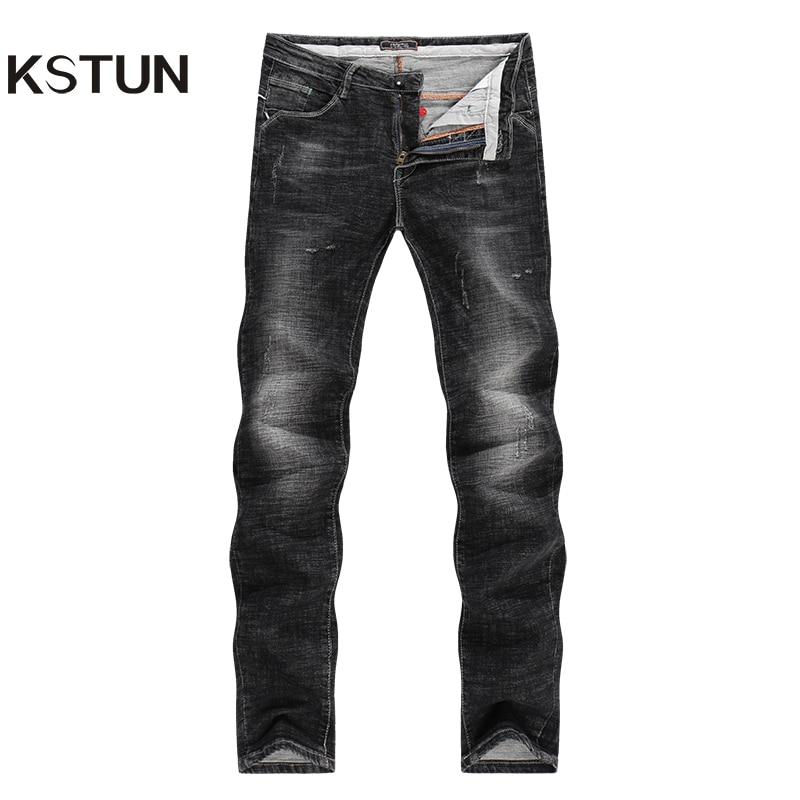 KSTUN Jeans Men Black Winter Thicken High Elastic Pencils Pants Casual Boys Yong Man Slim Leg Skinny Pockets Design Male Hombre блуза jacqueline de yong jacqueline de yong ja908ewujb68