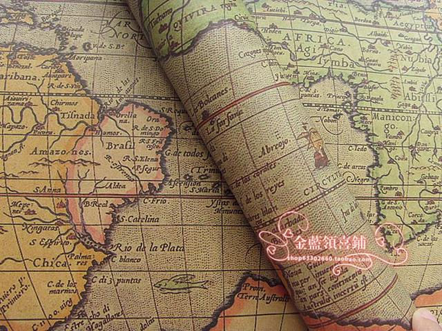 20pcsset kraft paper vinthge world map edition of earth event party supplies gift candy