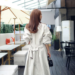 Image 5 - new arrival high quality women fashion comfortable loose a line trench coat  professional temperament outdoor warm long trench