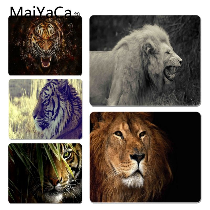 MaiYaCa High Quality Lion and tiger Customized laptop Gaming mouse pad Size for 180*220 200*250 250*290 Hot Mouse Pad