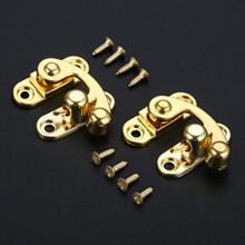 29x33mm Latch Clasp Furniture Locked Box Suitcase Toggle Buckles Antique Alloy Right Lock Zinc Wooden Gold