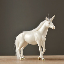 Resin Unicorn Living Room Office Creative Art Decoration Birthday Wedding Gift Horse