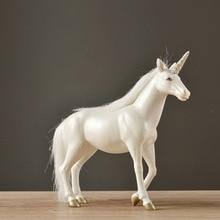 Resin Unicorn Living Room Office Creative Art Decoration Birthday Wedding Gift Horse