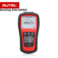 Autel MaxiDiag Elite MD802 Automotive Diagnostic Tool For Most Cars Turn Off Warning Light Read Clear