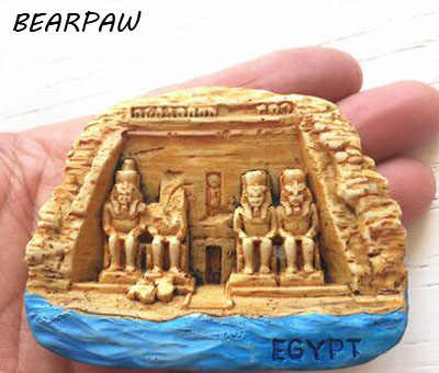 1 Pcs/set Cartoon Egypt Aswan Abu Simbel Temple Tourist Travel Souvenir 3D Resin Decorative Fridge Magnet Stickers Craft Gifts