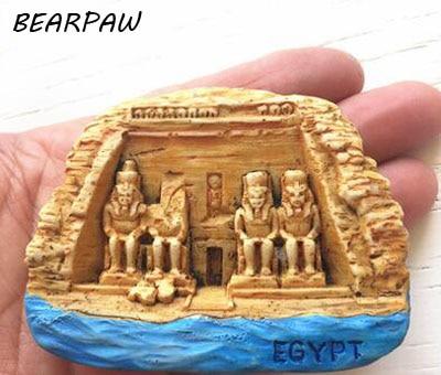 1 Pcs/set Cartoon Egypt Aswan Abu Simbel Temple Tourist Travel Souvenir 3D Resin Decorative Fridge Magnet Stickers Craft Gifts