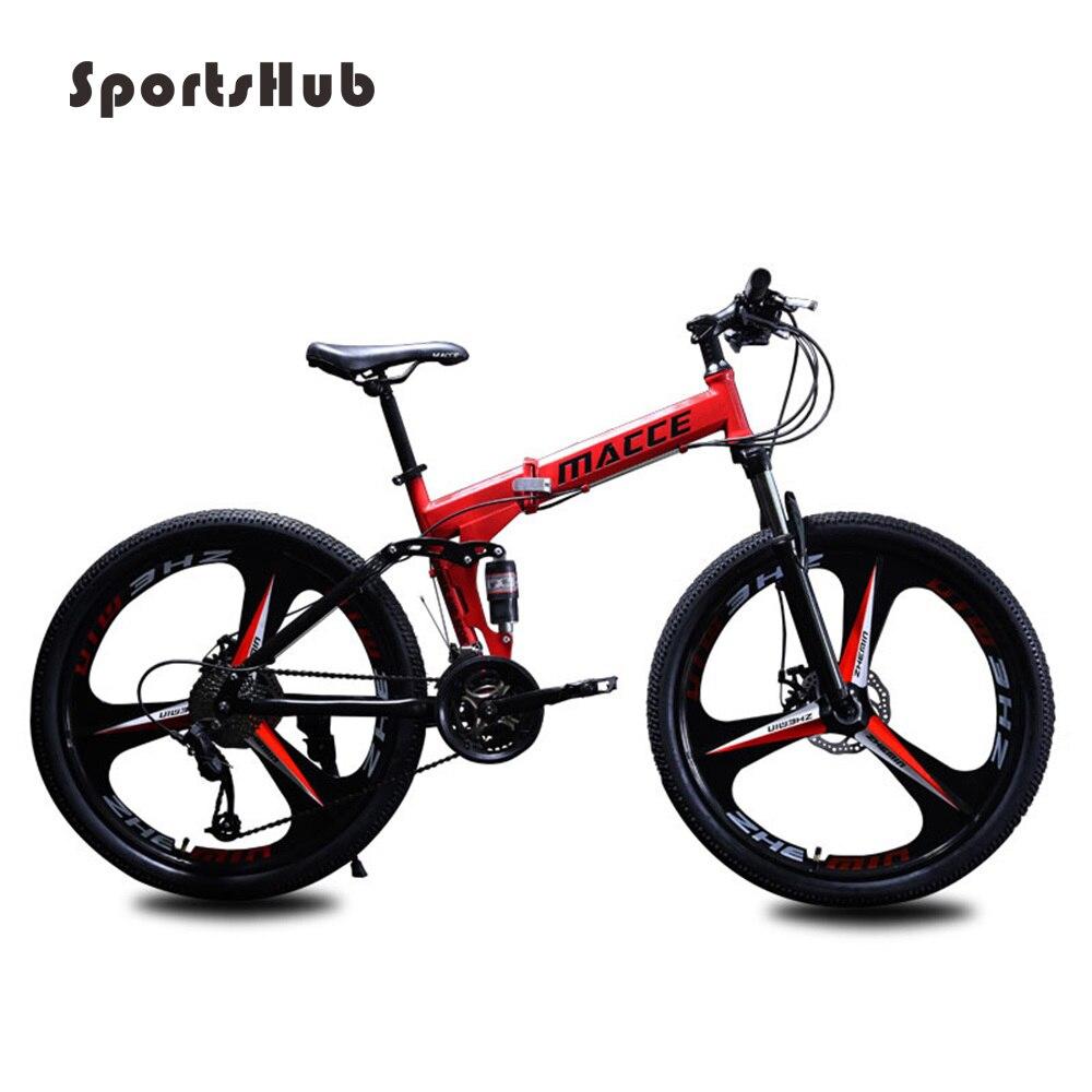 SPORTSHUB 21/24/27 vitesse 24/26 pouces aciers au carbone route vélo cadre pliant VTT cyclisme complet Bicicleta O2K0008