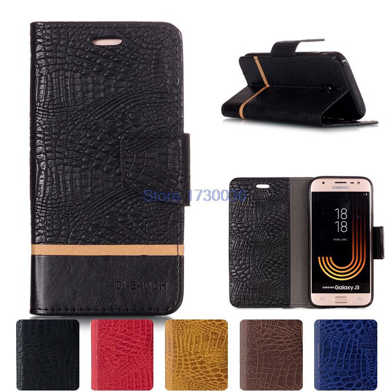 Galleria fotografica Flip Case Cover J37 SM-J330F/DS SM-J330F SM J330 J330F J330F/DS J330FN Bags Leather Case for Samsung Galaxy J3 2017 J330 SM-J330