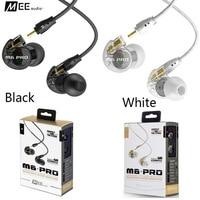 Bas Prix MEE Audio M6 PRO Isolation Acoustique Musique Dans oreille Casques Noir/Blanc Universal Fit Filaire Écouteurs Avec Détail PK SE215