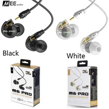 Low Price MEE Audio M6 PRO Noise Isolating Music In Ear Headsets Black/White Universal Fit Wired Earphones With Retail PK SE215