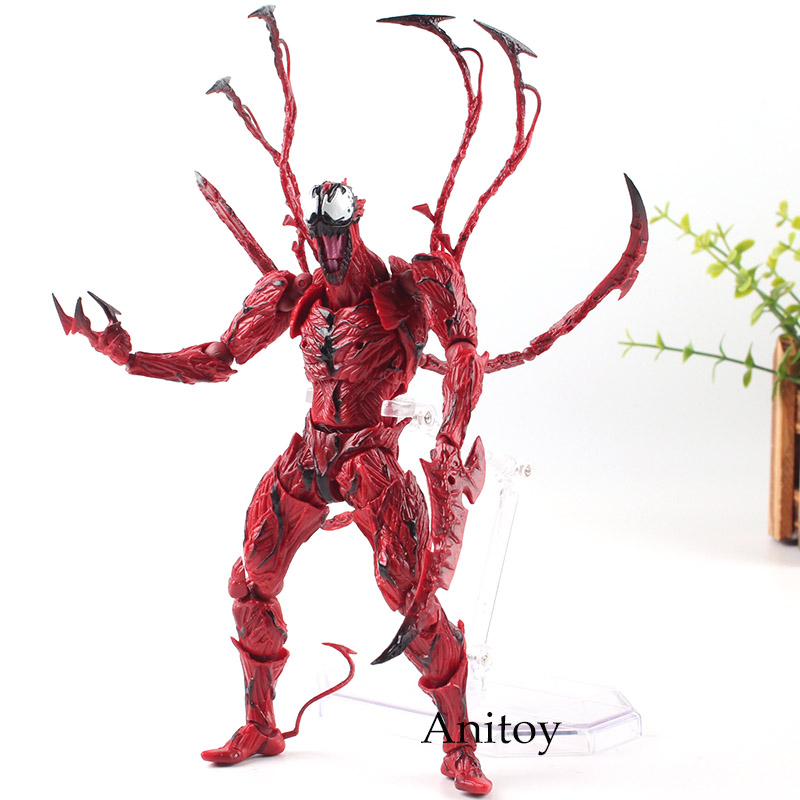 The Amazing Spider-man Action Figure Carnage Revoltech Series NO.008 Cletus Kasady PVC Amazing Yamaguchi Collection Model Toys amazing spider man worldwide vol 1