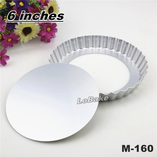 6 inches loose-bottom aluminium alloy round flower wavy side pie pan pizza stone pancake  sc 1 st  AliExpress.com & 6 inches loose bottom aluminium alloy round flower wavy side pie pan ...