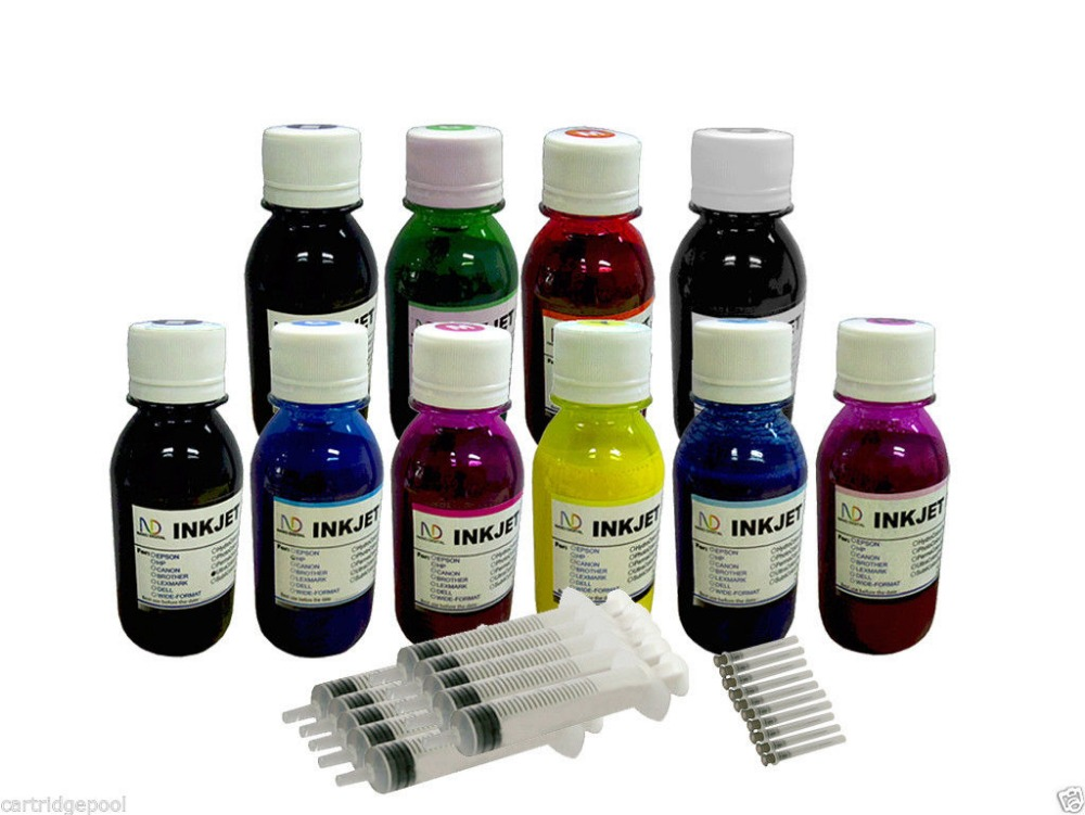 2015 New [Hisaint] 10x4oz pigment refill ink for Canon PIXMA PRO-10 printer [New ink Listing]