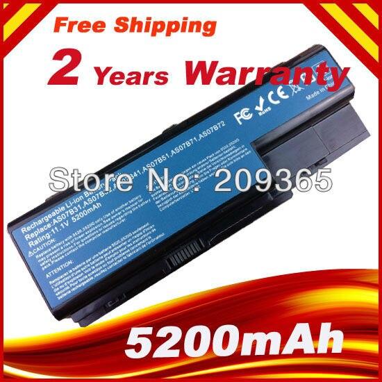 Laptop battery For Acer Aspire 5520 5720 5920 6920 6920G 7520 7720 7720G 7720Z AS07B31 AS07B41 AS07B42 AS07B72 for acer 7220 7520 5315 5720 7720 5520 5310 laptop cpu fan