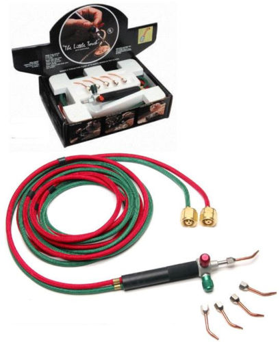 Mini Jewelry Gas Torch Welding Soldering Micro Torch Set with Hoses and 5 Tips