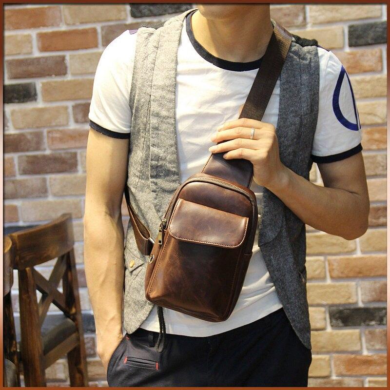 Online Shop Quality PU chest bag men sling bag travel crossbody ...