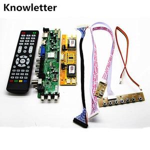 "Image 1 - DVB T2/DVB T/DVB C LCD digital TV Driver Controller Board Kit 20"" LTM200KT01 1600*900 LCD controller board DIY kit"