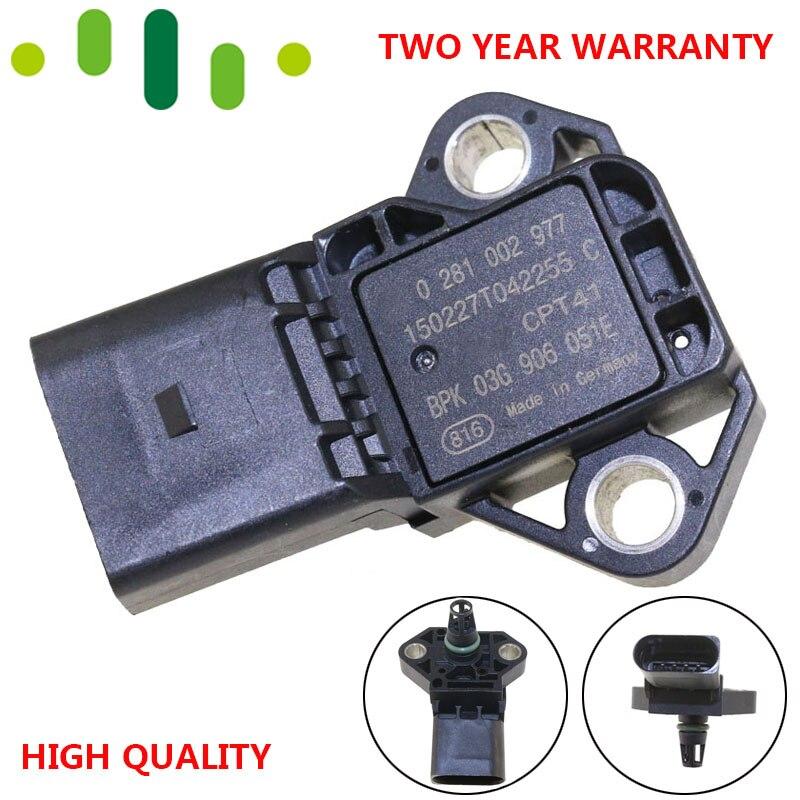 MAP Sensor Manifold Absolute Intake Air Temp Turbo Boost Pressure For Audi A8 Q7 TT 2.0L 2.5L 3.0L 0281002977 03G906051E