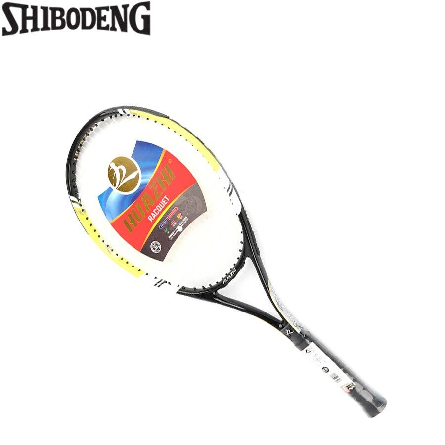 da 820 1 Equipped Quality High Fiber SHIBODENG 4 Racket Size Tennis Grip Racquets  racchetta Piece Carbon 1/4 1