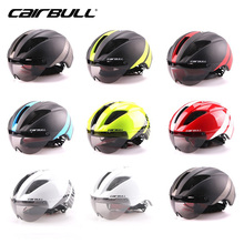 CAIRBULL Bicycle Helmets Sunglasses Cycling Helmet With Len Windproof Integrally Molded Men Women Mountain Road Bike Helmets